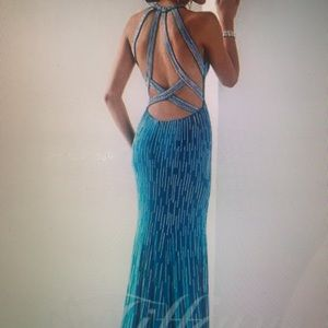 NWT teal Tiffany gown size 4.